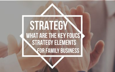 Strategy:  What are the key focus strategy elements for SME and Family businesses?